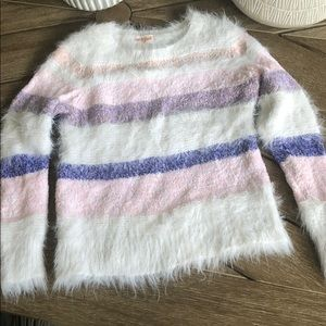 Cat & Jack Fuzzy Striped Sweater